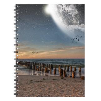 Supermoonのビーチのノート ノートブック