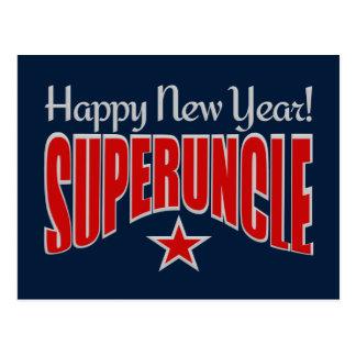 SUPERUNCLEの新年の郵便はがき ポストカード