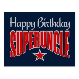 SUPERUNCLEの誕生日の郵便はがき ポストカード