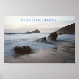 Surの大きい海岸、カリフォルニア ポスター