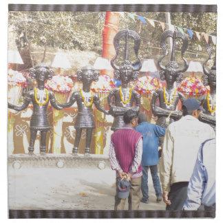 SurajKundのフェスティバルのインドの国家資本の地域 ナプキンクロス