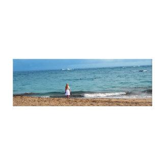 """""""Surfside放浪者""""のファインアートのキャンバスのプリント キャンバスプリント"""