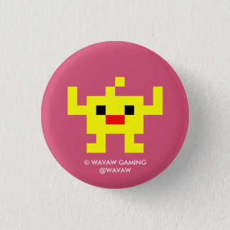 SurrenderMan™ - 8bit Character Button (Pink) 3.2cm 丸型バッジ