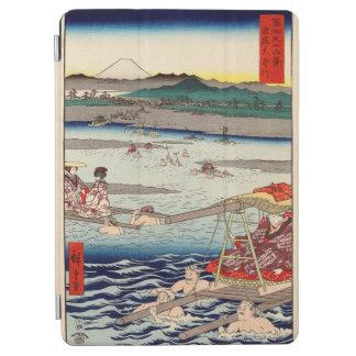 Surugaと遠江国間のŌiの川 iPad Air カバー