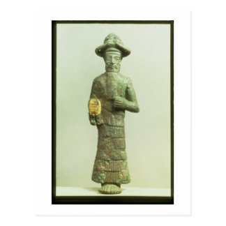 Susa、Southwesteからの金手を搭載するElamiteの神 ポストカード