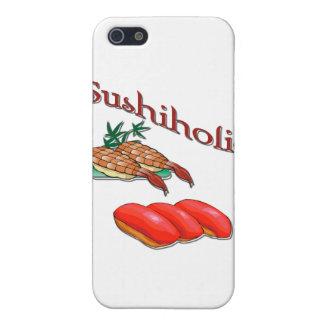Sushiholicのエビおよびマグロの赤 iPhone 5 ケース