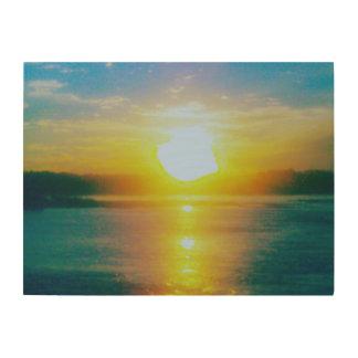 Susquehannaの日没 ウッドウォールアート