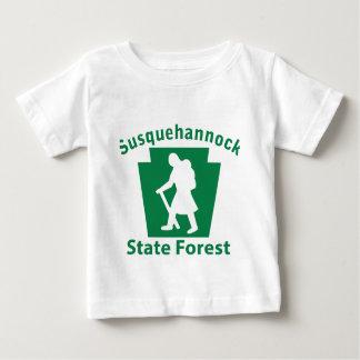 Susquehannock SFのハイキング(女性) ベビーTシャツ