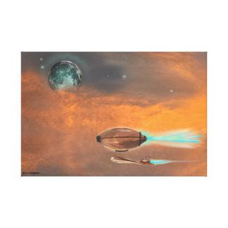 SuzeeQ著Steampunkの月光の巡航のキャンバス キャンバスプリント