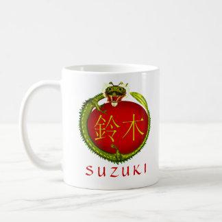 Suzukiのモノグラムのドラゴン コーヒーマグカップ