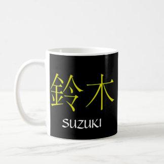 Suzukiのモノグラム コーヒーマグカップ
