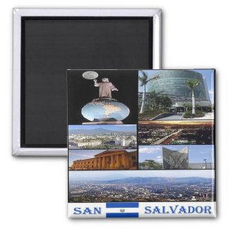 SV -エルサルバドル-サンサルバドルのモザイクコラージュ マグネット
