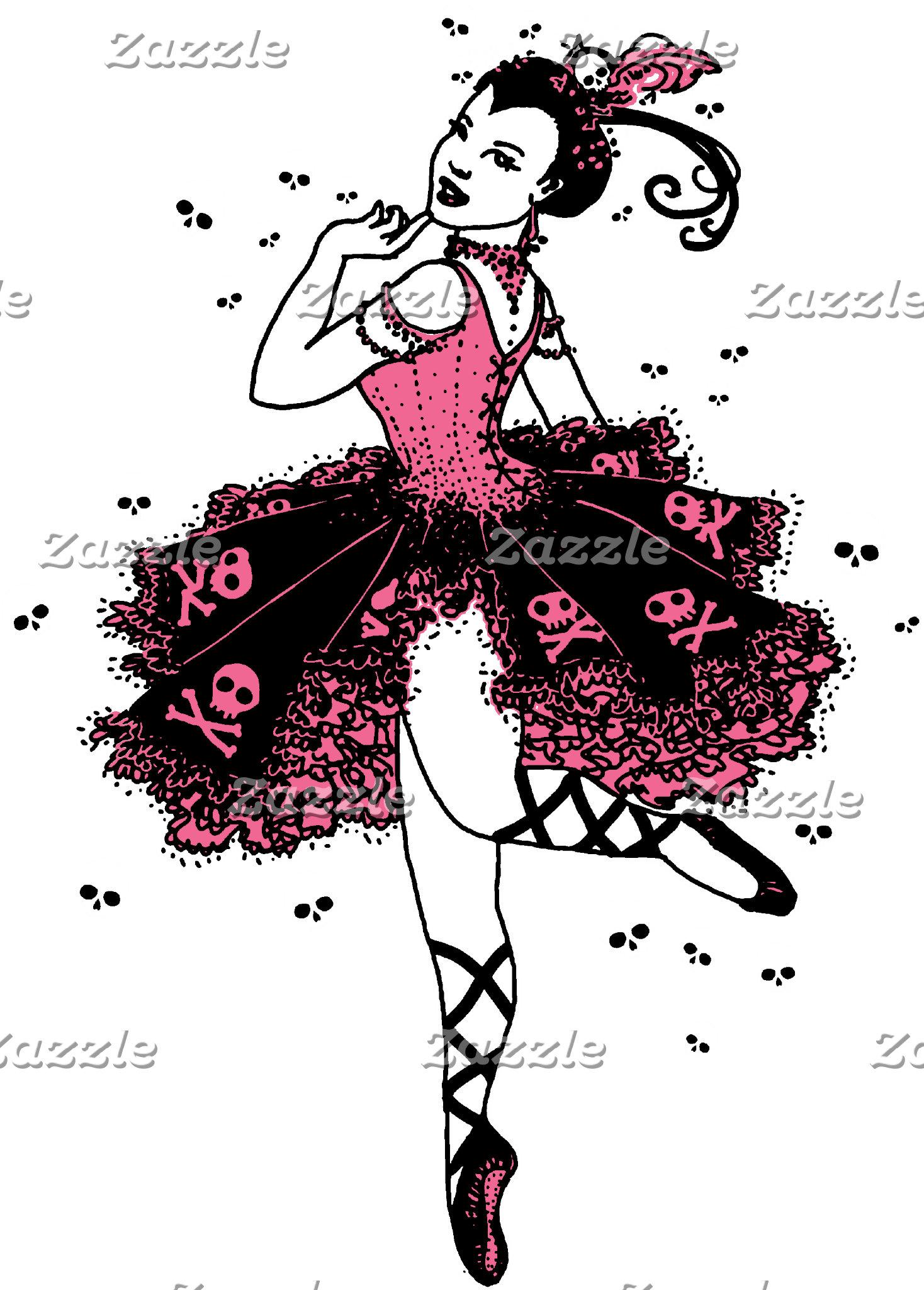 Gothic Ballerina in Pink