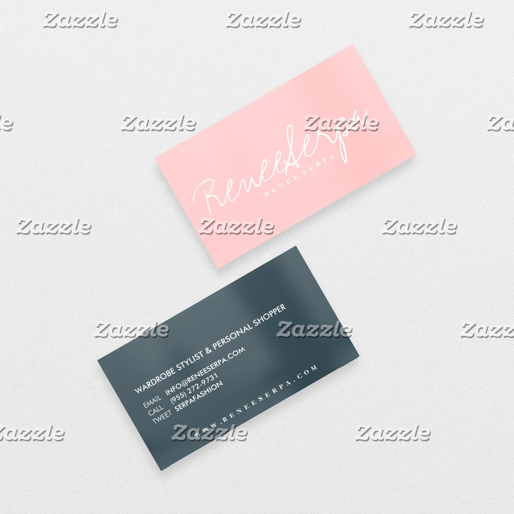 Modern simple bold rose pink gray contrast color