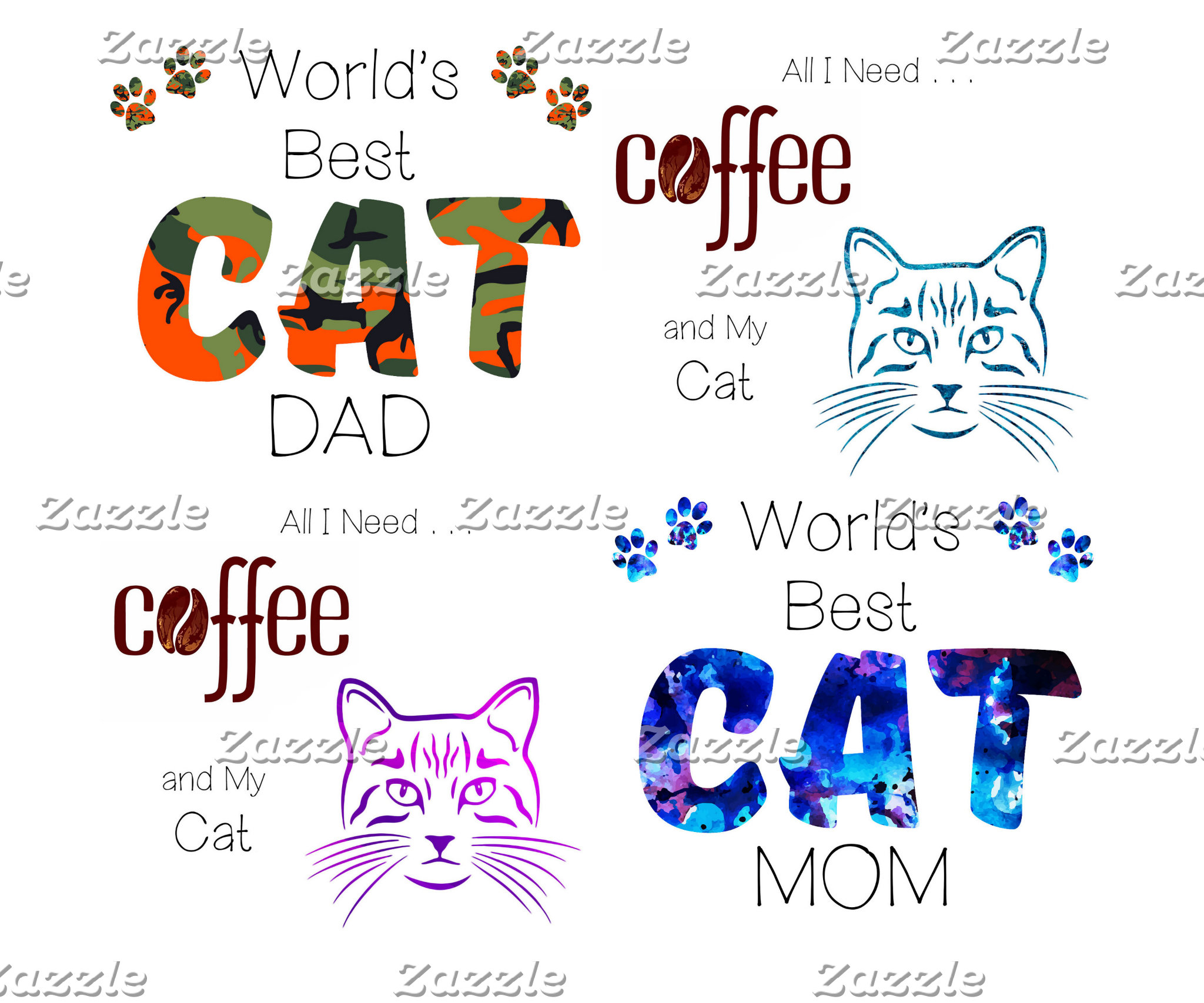 All I need is Coffee and My Cat - Cat Lover Mugs