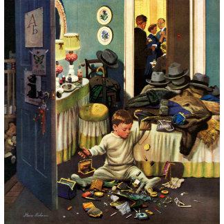 Toddler Empties Purses