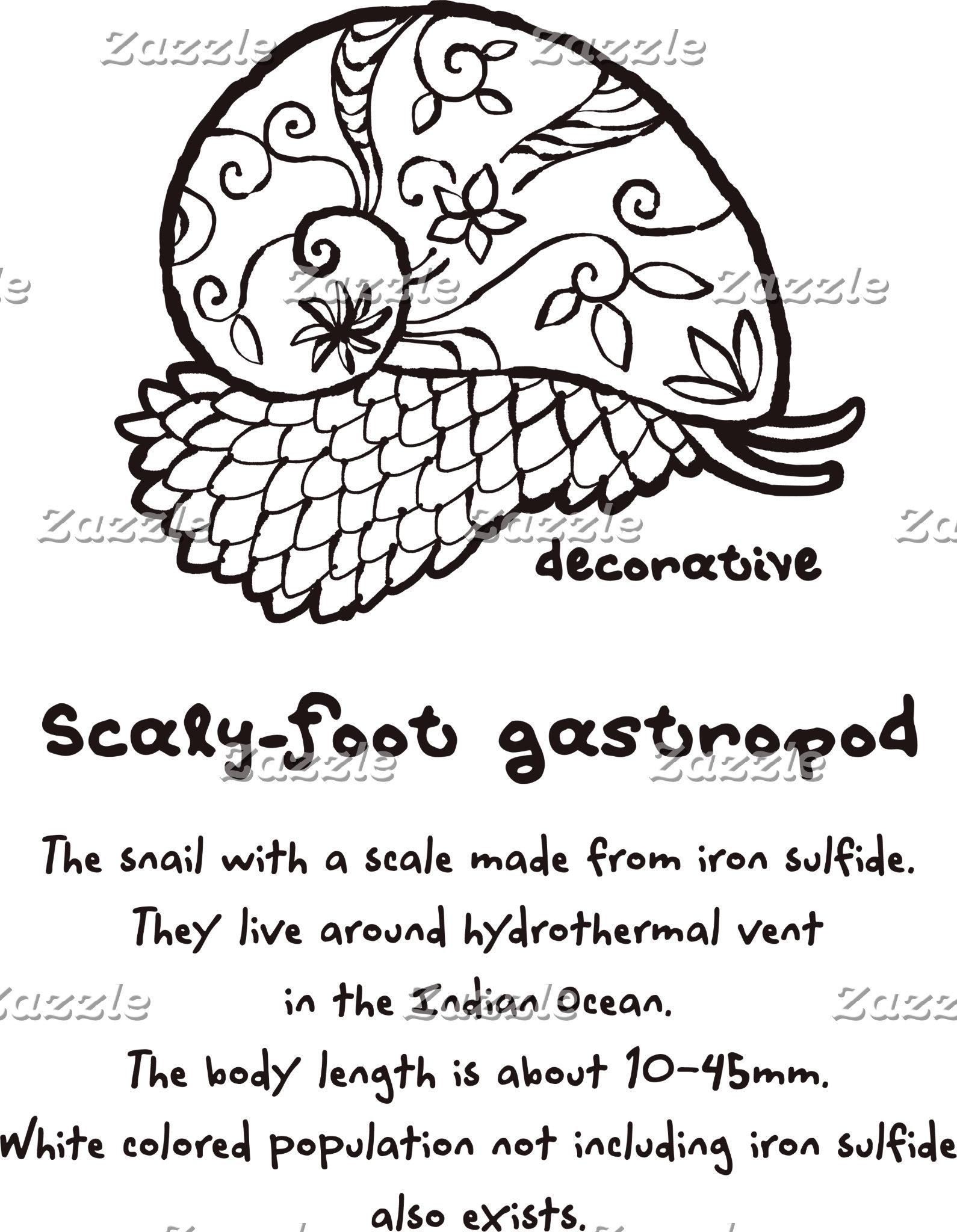 【装飾的なスケーリーフット(茶)】 Decorative Scaly-foot (Brown)