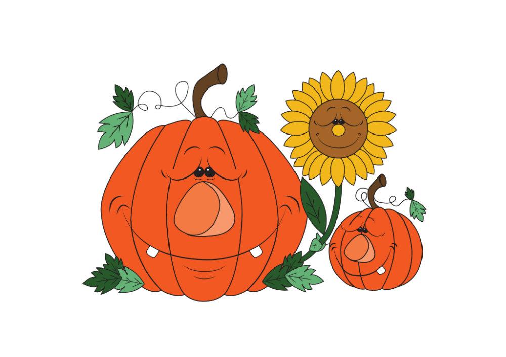 Cute Pumpkin Cartoon