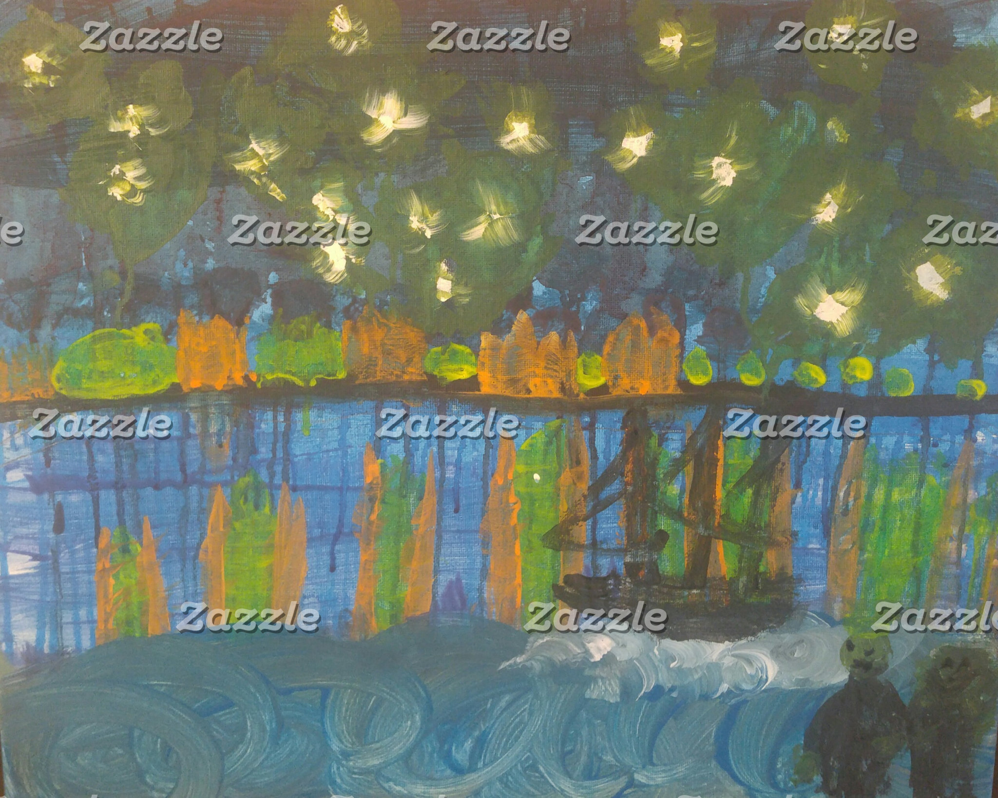"""Starry Night on the Rhone"" Interpretation"