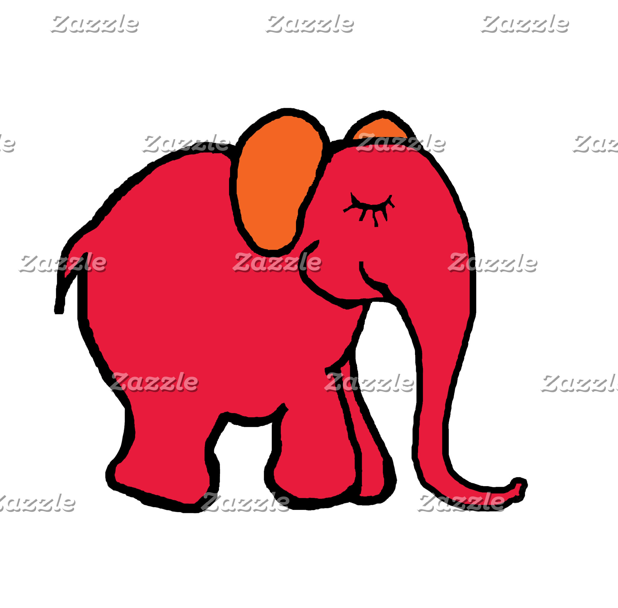 Happy Cartoon Elephants Line