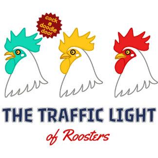 【にわとり信号(濃色用】The traffic light of roosters(for dark