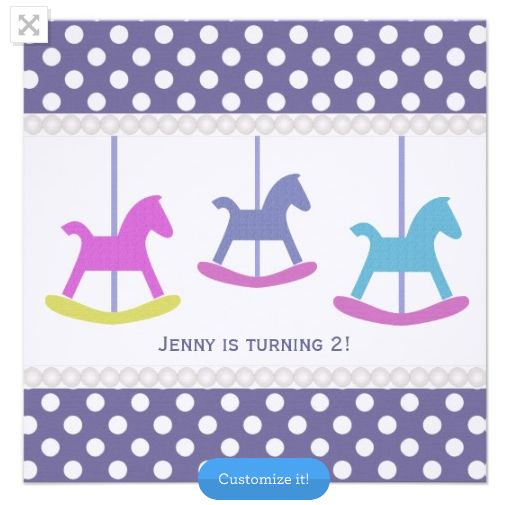 Carousel Party Invitations