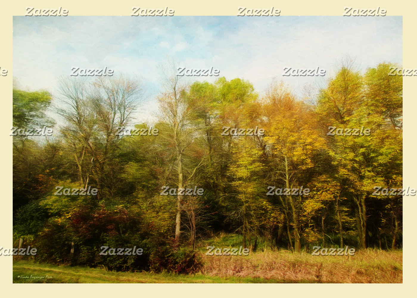 Early October Trees Landscape