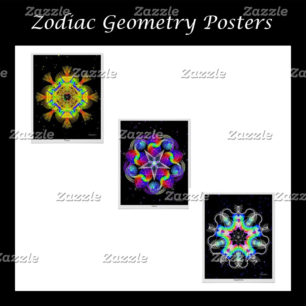 Zodiac Geometry Posters