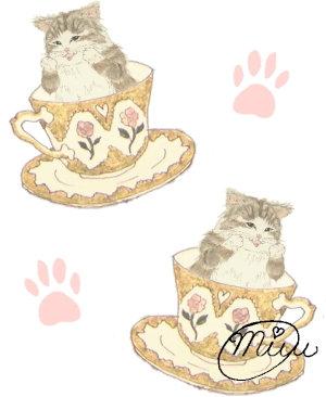 【ティー・カップと猫ちゃん】