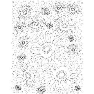 Coloring Book Sunflowers