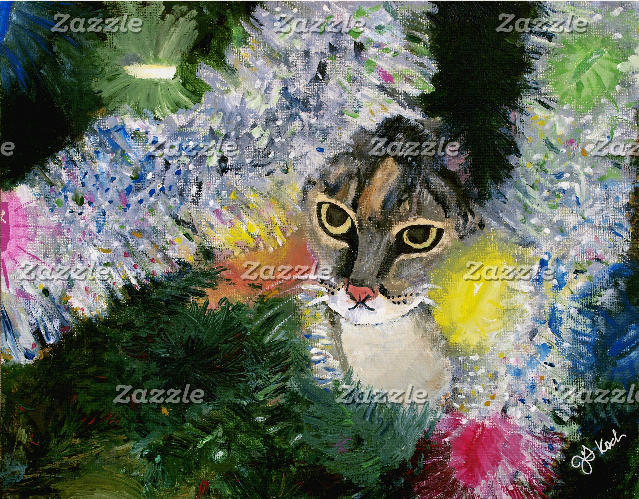 And a Cat in a Christmas Tree