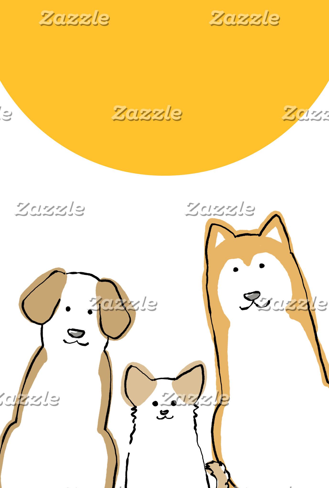 3匹の犬 年賀状