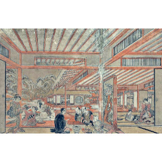 Picture of a drinking party by Utagawa,Toyoharu