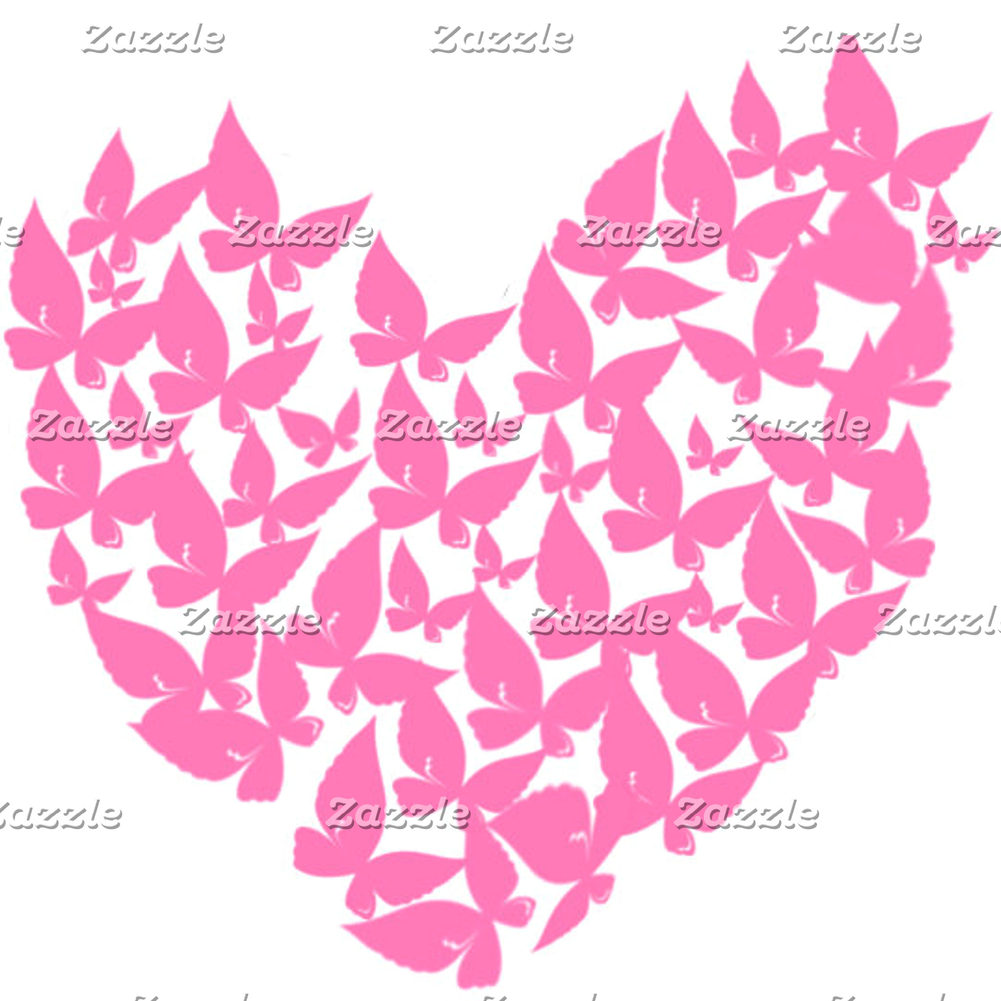 Butterfly heart pink love