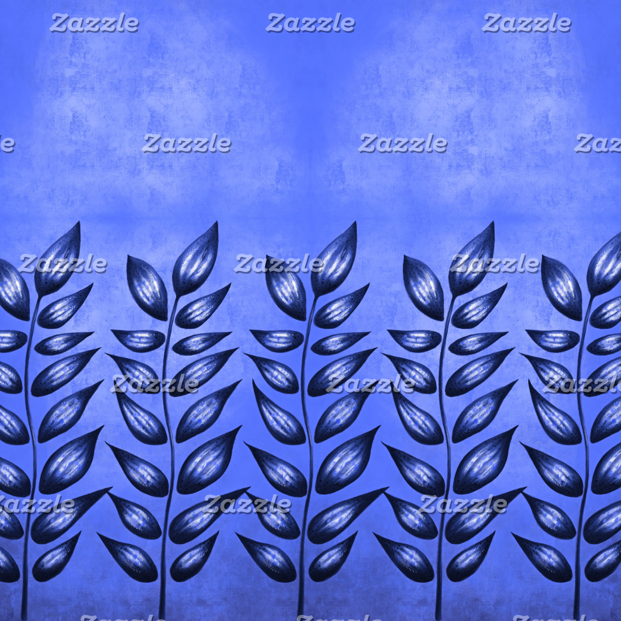 Blue Abstract plant with sharp leaves