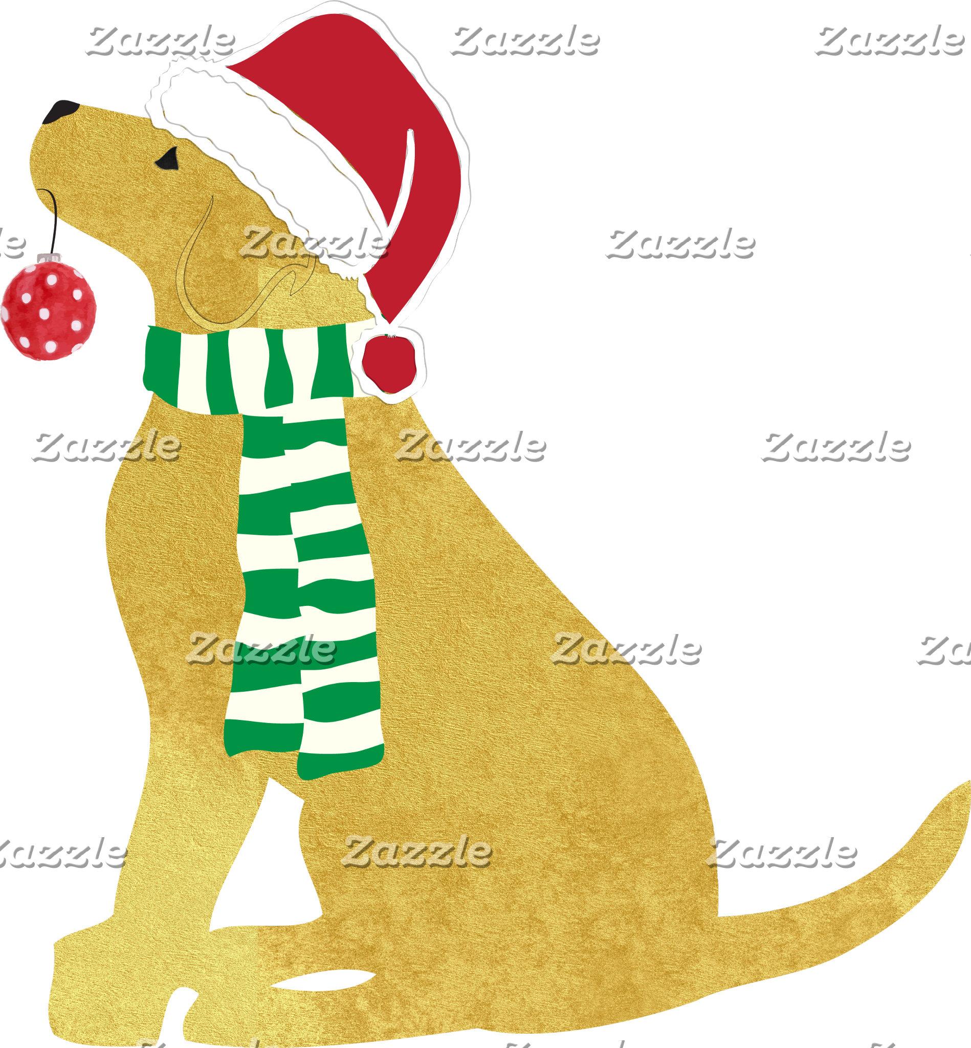 Christmas Retrievers Holiday Dog