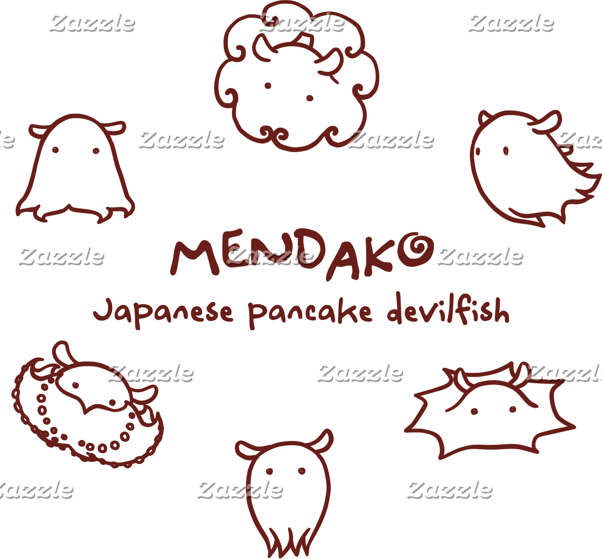 【メンダコ (エンジ)】 Japanese pancake devilfish (Red)