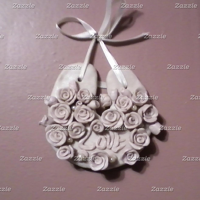 Pale Pink Roses Horseshoe Wedding/ Handfasting