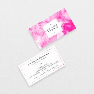 Watercolor neon pink abstract modern artistic cool
