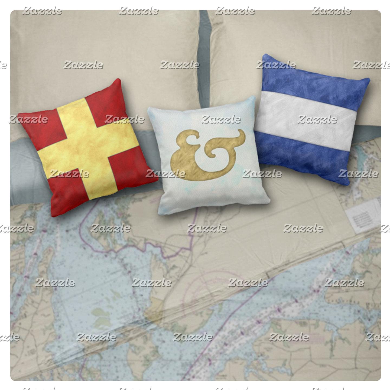 Watercolor Nautical Maritime Signal Flags