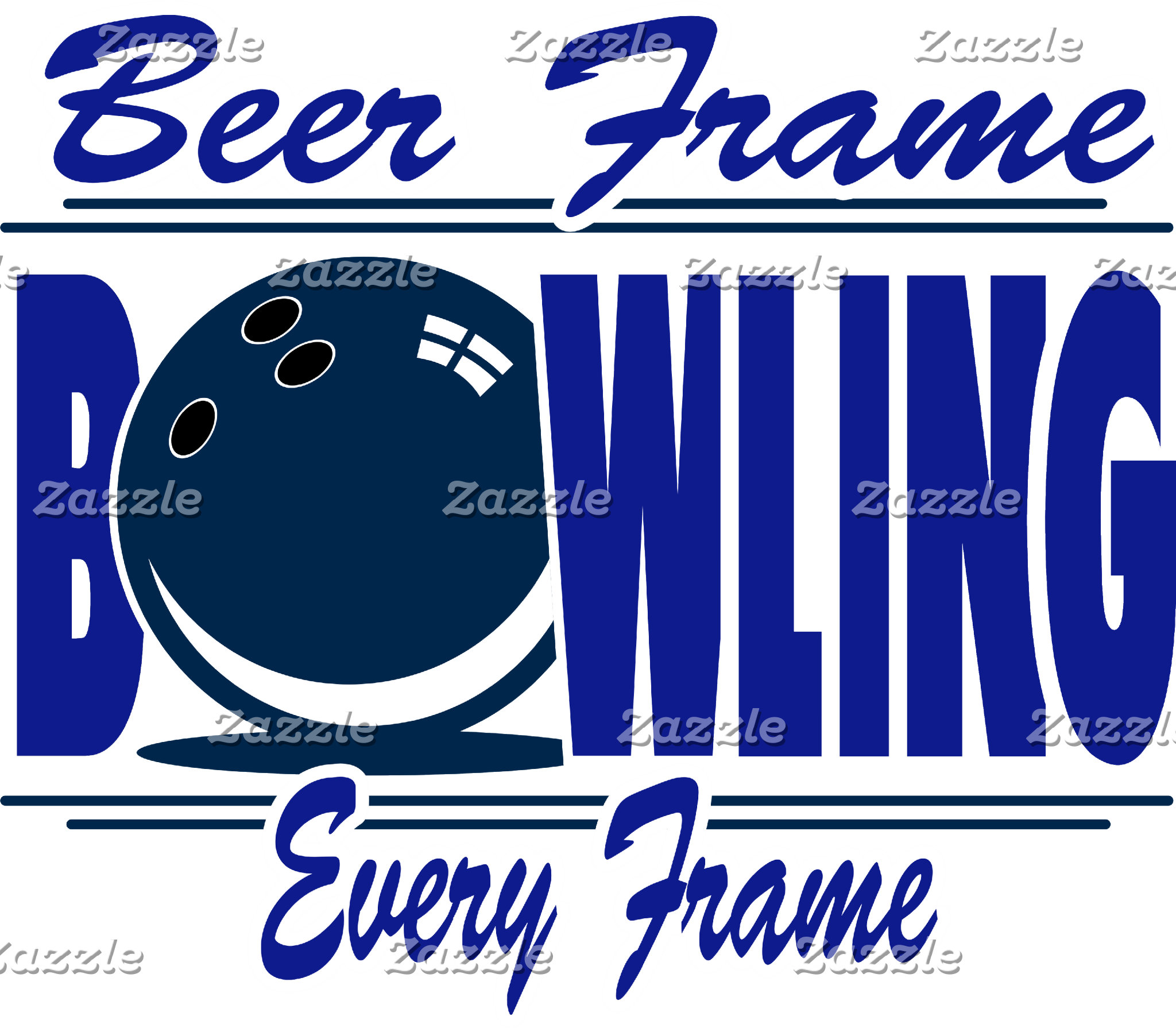Bowling Beer Frame Every Frame T-Shirts