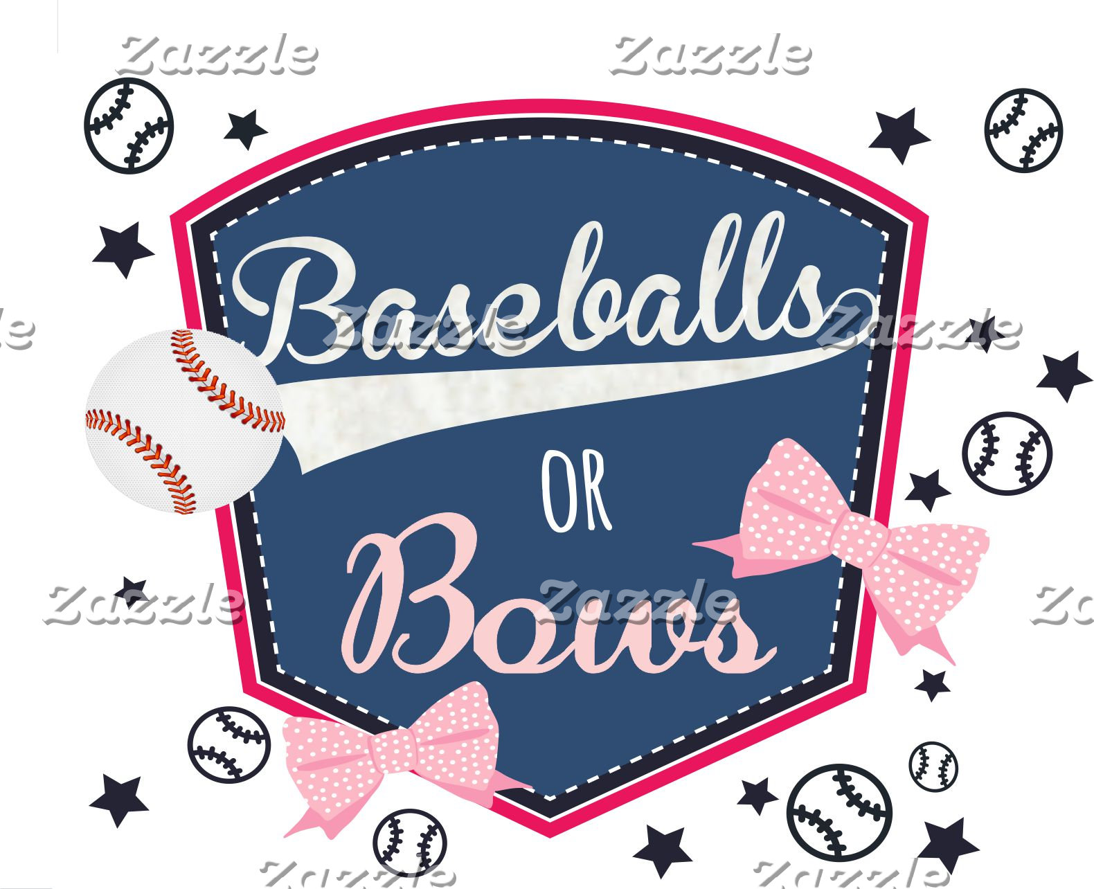 Baseball or Bows - Gender Reveal