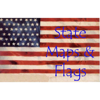 State Map & Flag Postcards