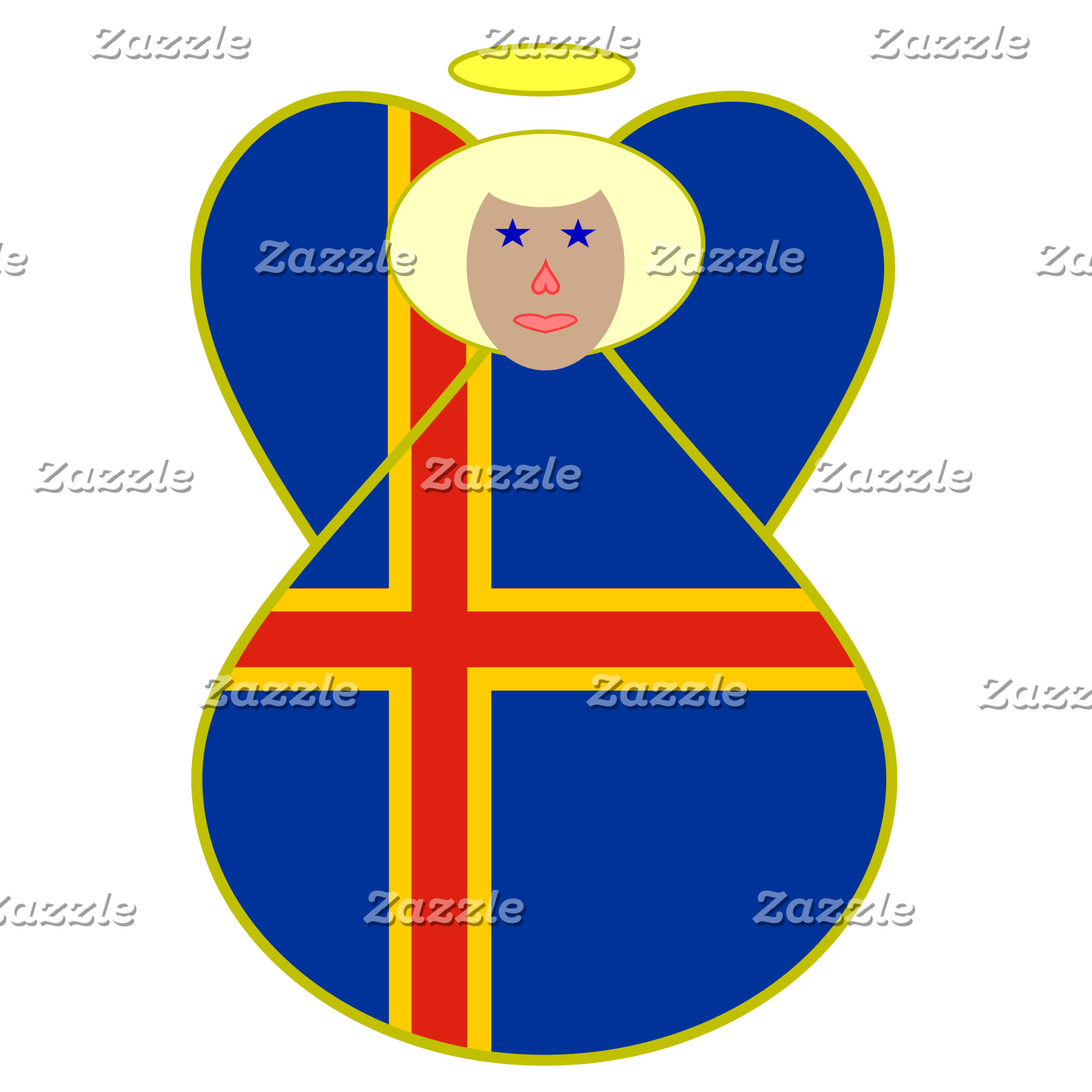 Aaland Islands Angel Flag Blonde