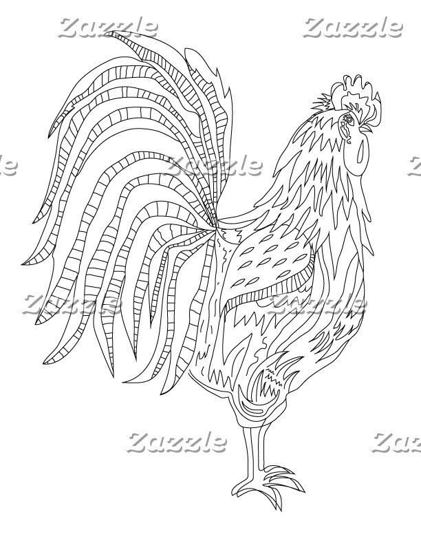 Country Living Rooster