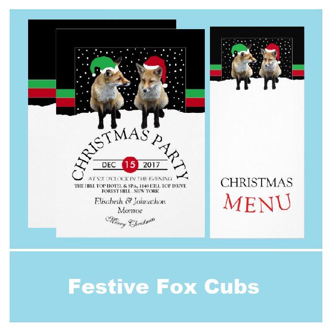 Festive Fox Cubs