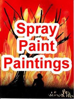 Spray Paintings (spraypaint art), space painting