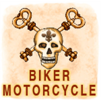 Biker and Motorcycle