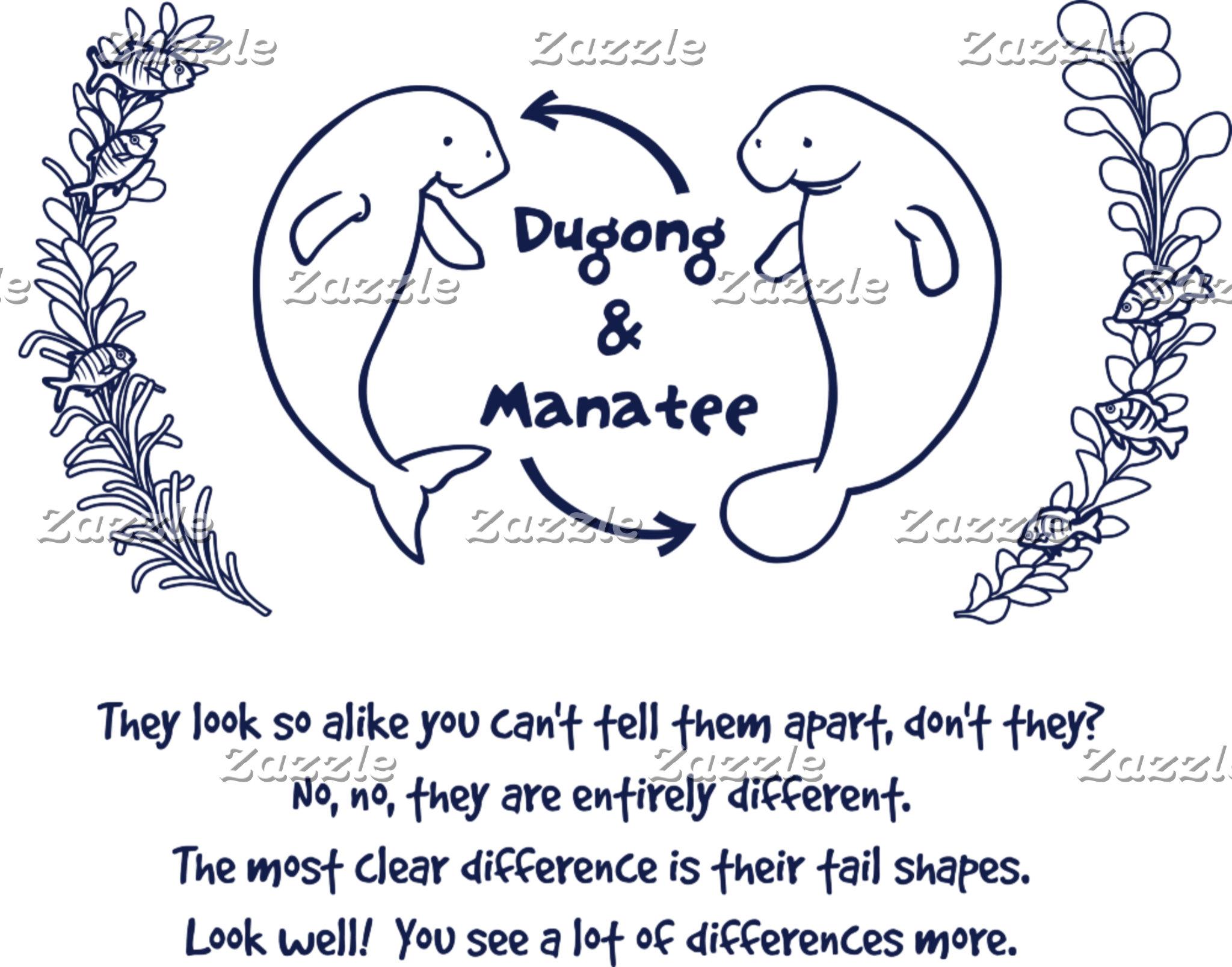 【ジュゴンとマナティー(紺)】 Dugong & Manatee (navy)
