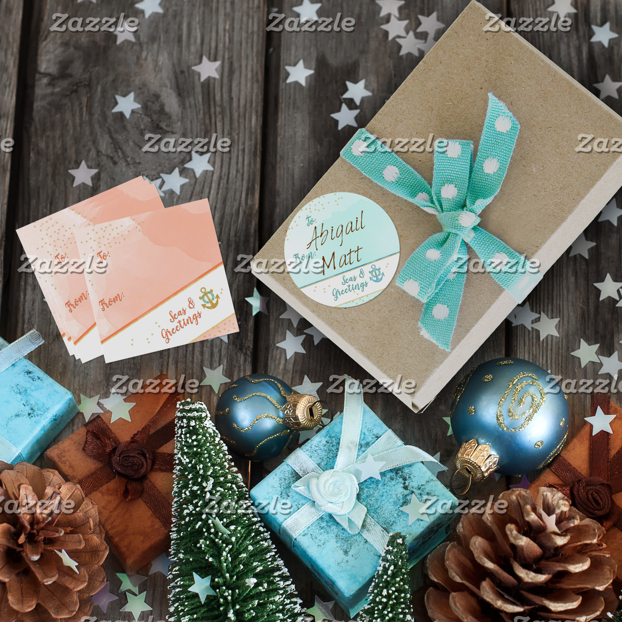 Seas & Greetings Wrapping & Gift Baubles